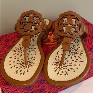 Tory Burch Miller Scallop Flat Slide Sandals